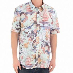 Volcom Ol Shipster Button down Hawaiian shirt